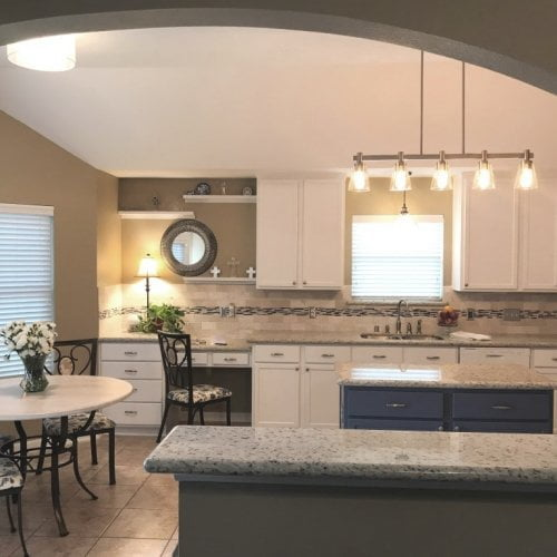 Kitchen makeover - From Builder Basic to Contemporary Updated