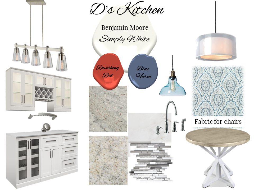 E-Design/Virtual Design - Kitchen Moodboard