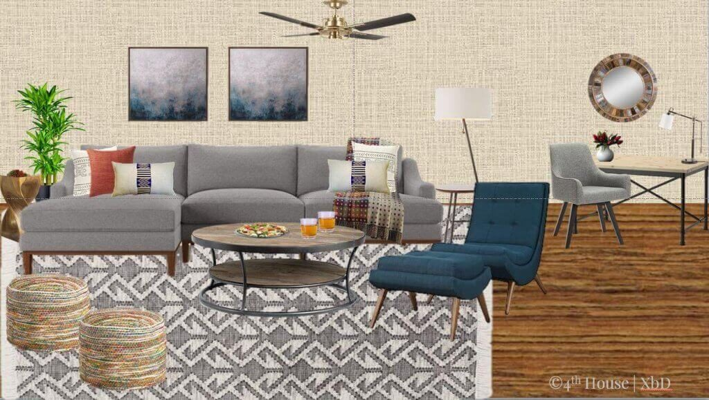 E-Design/Virtual Design - Sustainable Living Room